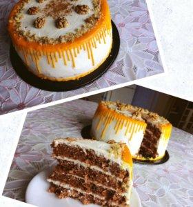 Морковный торт с крем-чизом