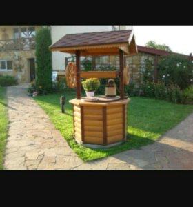 Садовая инсталляция из дерева )