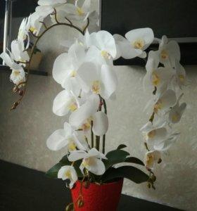 Композиции из искусственных орхидей и другихцветов