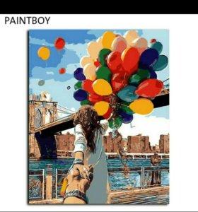 Картина по номерам 50×40 Раскраска