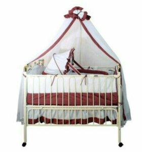 Детская кроватка с люлькой