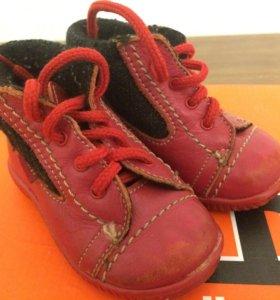 Кожаные ботиночки демисезонные 18 размера