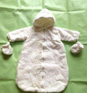 Комбинезон -конверт на выписку новорожденного
