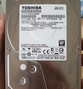 Жесткий диск на 2 терабайта