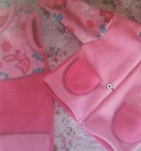 Флисовый костюм для девочек