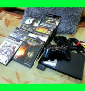 Playstation 2 + 6дисков