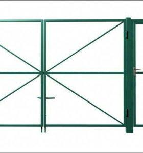 Ворота с калиткой (комплект)