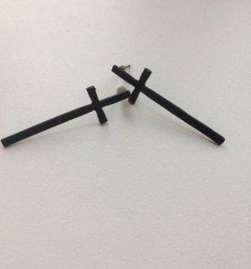 Серёжки крест