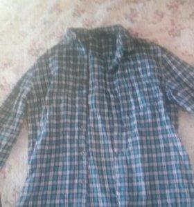 Фланелевая рубашка на 44 размер