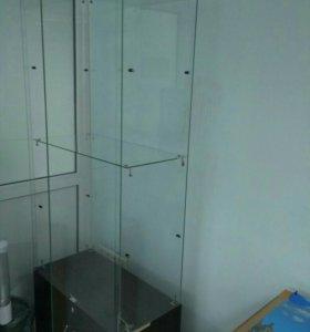 Стеклянный шкаф стеллаж