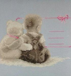 Вышивка Метрика детская