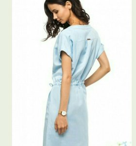 Новое льняное платье