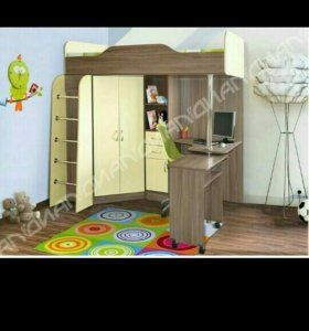 Детская комната кровать с матрасом