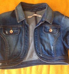 болеро джинсовое с короткими рукавами