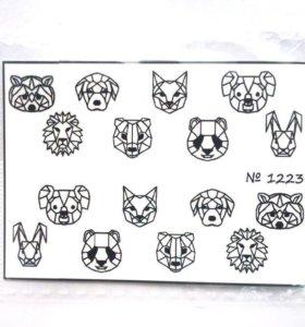 Слайдер-дизайн (наклейка для ногтей)геометрия и др