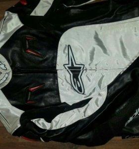 Мото куртка alpinstars Белая мотокуртка