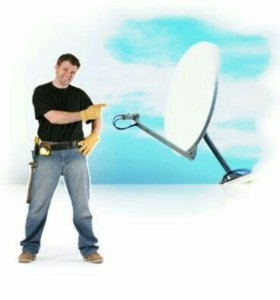 Установка антенн спутникового телевидения