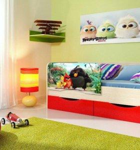 Детская кровать Энгри 1,6 м.