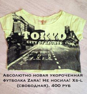 Укороченная футболка Zara новая!