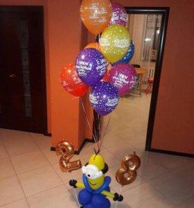 Гелиевые шары и фигуры из шариков