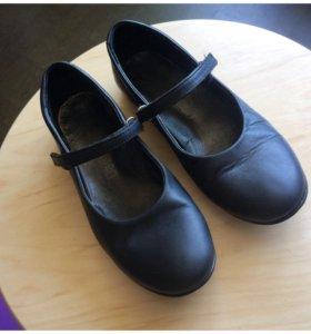 Кожаные туфли на девочку MINIMEN 33р.
