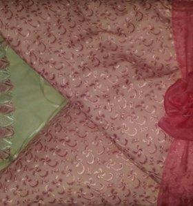 Комплект зимний, конверт теплый, на выписку
