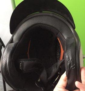 Шлем 2/3 обтянутый кожей