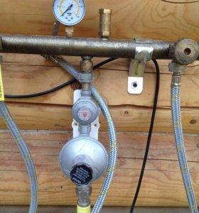 Газовая рампа с редуктором 2х ступ