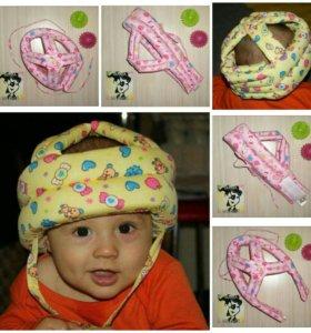 Защитная противоударная шапка-шлем новая