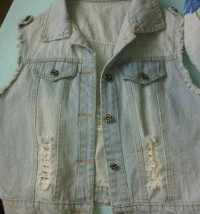 Модная джинс. жилетка