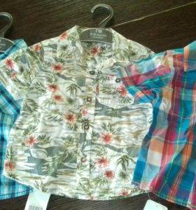 Новые рубашки на 1-1.5 года