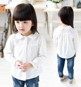 Белая рубашка на рост 100-110 см