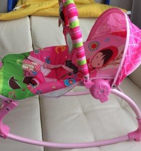 шезлонг детский качалка с музыкой