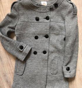 Пальто Тренч жакет женский серый в о/с S