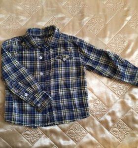 Рубашка клетчатая на мальчика