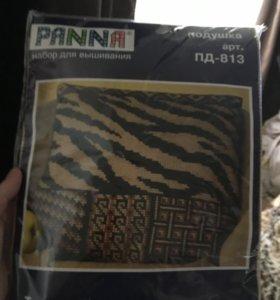 """Набор для вышивания """"тигровый окрас"""" подушка"""