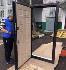 Двери с четырёх контурной шумоизцией