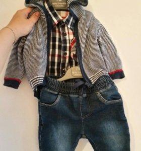 Комплект джинсы, рубашка-боди, свитер morhercare