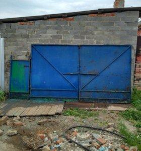 Распашные ворота и калитка из металла 3мм