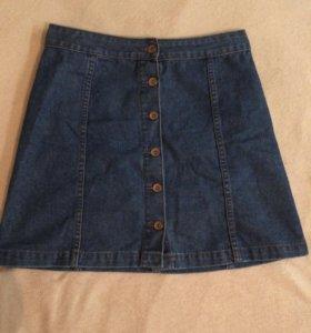 Юбка😌 джинсовая на пуговицах ☺️