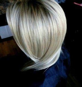 Омбре балаяж шатуш окрашивание волос