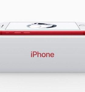 Новый iPhone 7 red 128gb