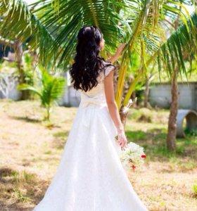 Свадебное платье и накидка