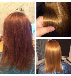 Кератиновое выпрямление волос/ботокс