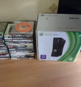 Xbox 360 Slim прошитый + много игр