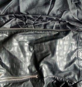 Куртка натуральная кожанная мужская демисезонная