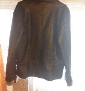Зимняя кожаная куртка новая