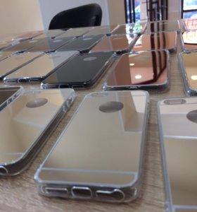 Силиконовые чехлы айфон 5 5S 6 6S 7