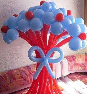 Букетики из воздушных шаров