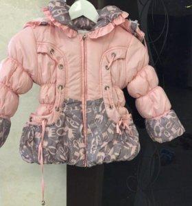 Куртка для девочки 5-7 лет на холодную осень